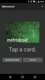 Screenshot of Metrodroid