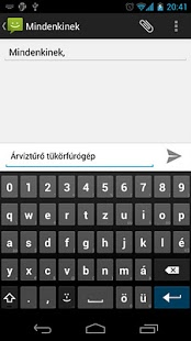 Screenshot of AnySoftKeyboard: Magyar