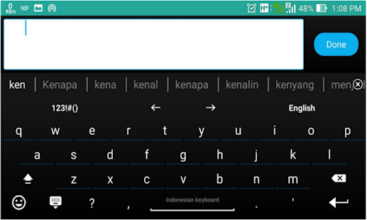 Screenshot of AnySoftKeyboard: Indonesian