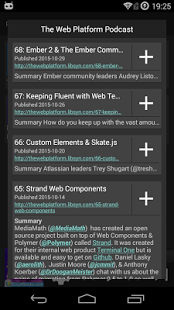 Screenshot of PodListen