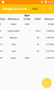 Screenshot of Simple Accounting