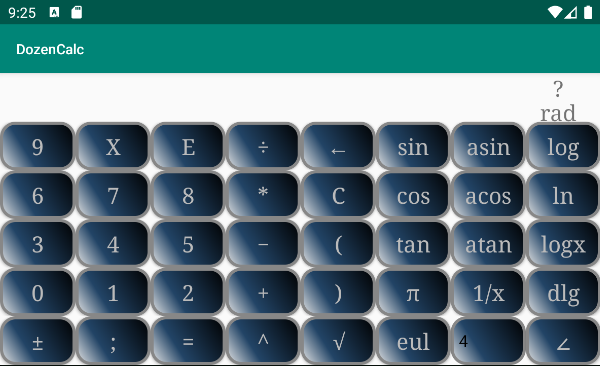 Screenshot of DozenCalc