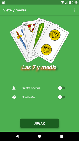 Screenshot of Siete y media