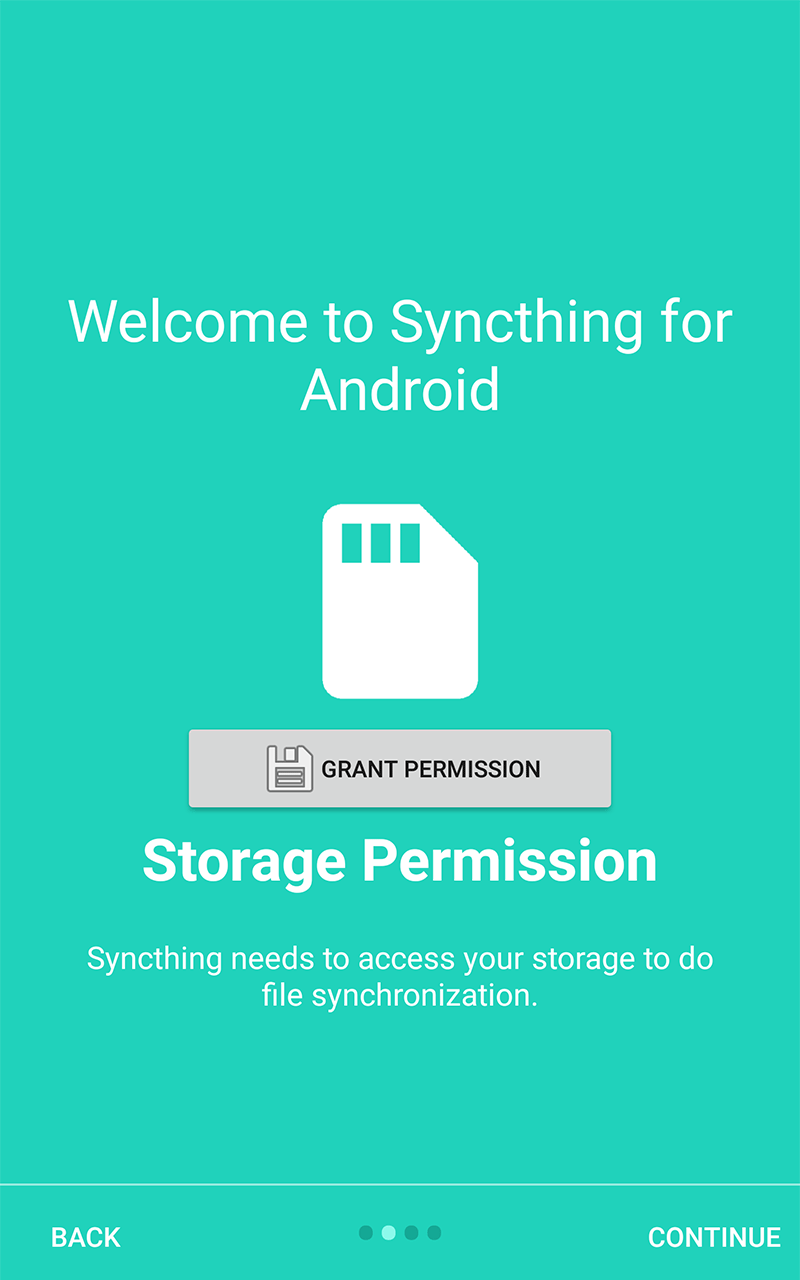 Screenshot of Syncthing-Fork