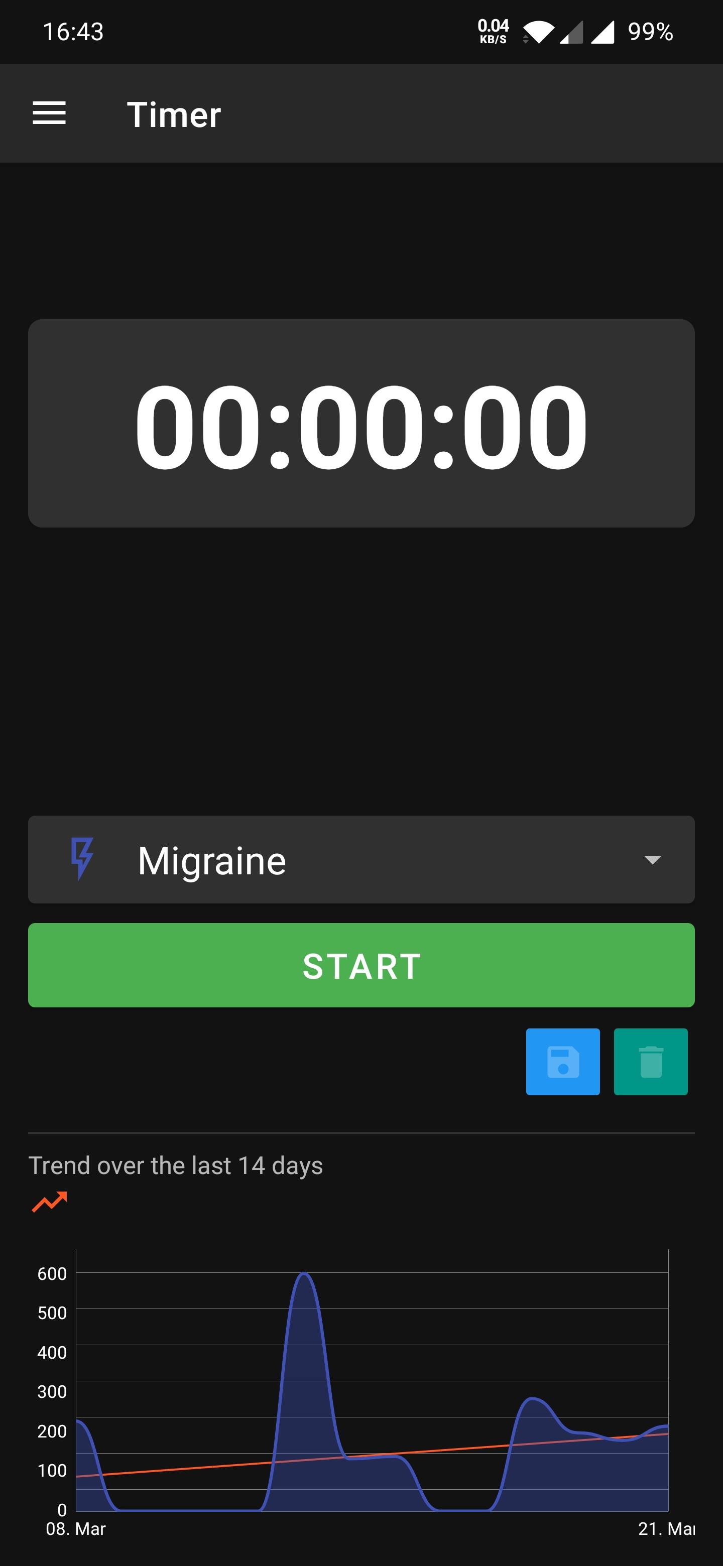 Screenshot of Headi - Your headache diary