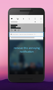 "Screenshot of Hide ""running in the background"" Notification"