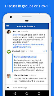 Screenshot of Mattermost Beta