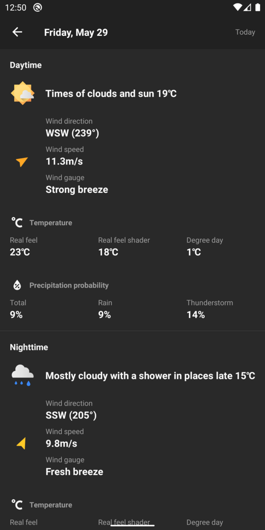 Screenshot of Geometric Weather