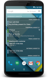 Screenshot of Todo Agenda for Android 4 - 7.0