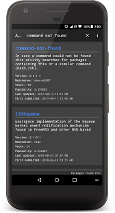 Screenshot of AURdroid