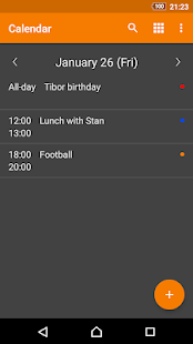 Screenshot of Simple Calendar Pro