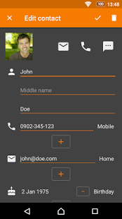 Screenshot of Contacts