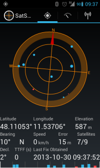 Screenshot of SatStat