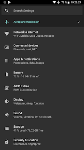 Screenshot of Default Dark Theme