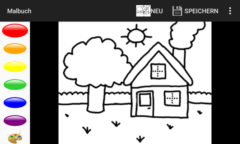 Screenshot of Coloring Book