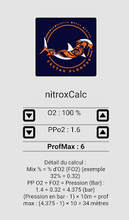 Screenshot of nitroxCalc