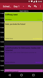 Screenshot of 34C3 Schedule