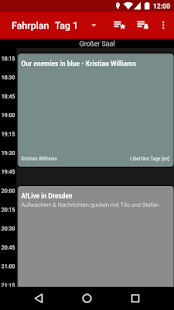 Screenshot of Datenspuren 2019 Schedule