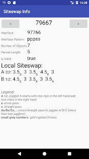 Screenshot of Siteswap Generator