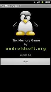 Screenshot of Tux Memory