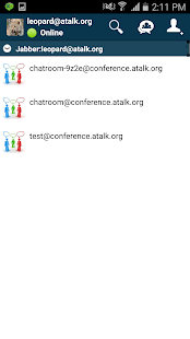 Screenshot of aTalk