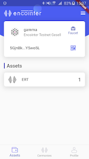 Screenshot of Encointerwallet