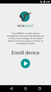 Screenshot of Flyve MDM Agent