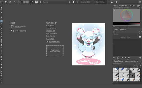 Screenshot of Krita
