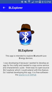 Screenshot of BLExplorer