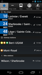 Screenshot of MonTransit STM Bus Schedule