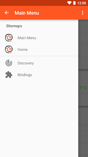 Screenshot of openHAB