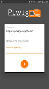 Screenshot of Piwigo