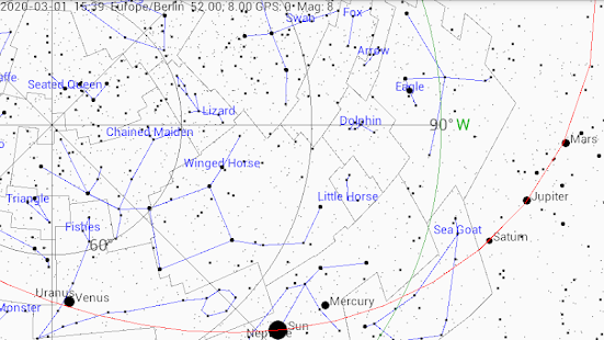 Screenshot of Planisphere