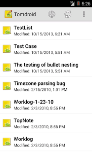 Screenshot of Tomdroid