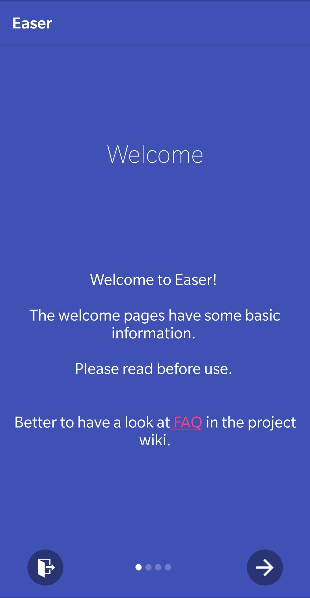 Screenshot of Easer (beta)